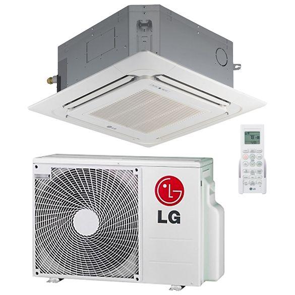Lg 12 000 Btu 19 4 Seer Ceiling Cassette Ductless Mini Split Air Conditioner Heat Pump System Heat And Cool Ho In 2020 Heat Pump System Heating And Cooling Duct Work
