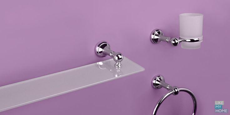 Набор для ванной Chess Торговая марка: VERRAN Классическая форма и серебристое хромое покрытие предметов серии Chess позволяют сделать ванную комнату уютной и элегантной.#verran #likemyhome #новинки  #душевая #интерьер #ванная #аксессуары  #декор #оформление #хранение