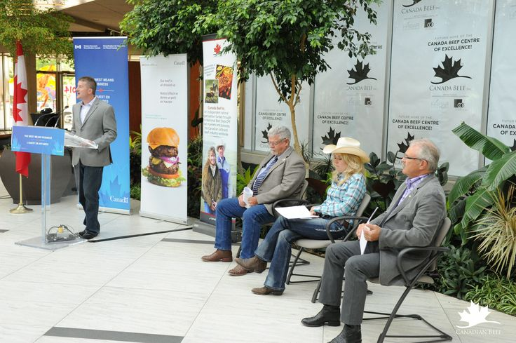 Press event to announce the funding to support the Canadian Beef Centre of Excellence in Calgary, AB #CdnBeefCentre