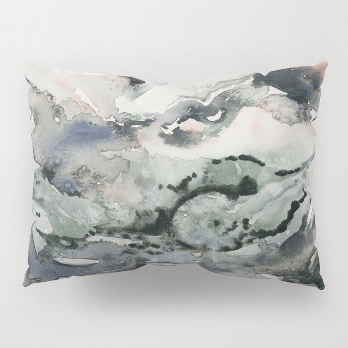 Dark Geode Abstract Watercolor Artwork By Shealeen Louise It S Time To Upgrade Your Bedding Our Pillow Shams Merge C Sham Earthy Home King Size Pillow Shams