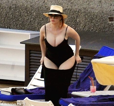 Christina Hendricks on holiday