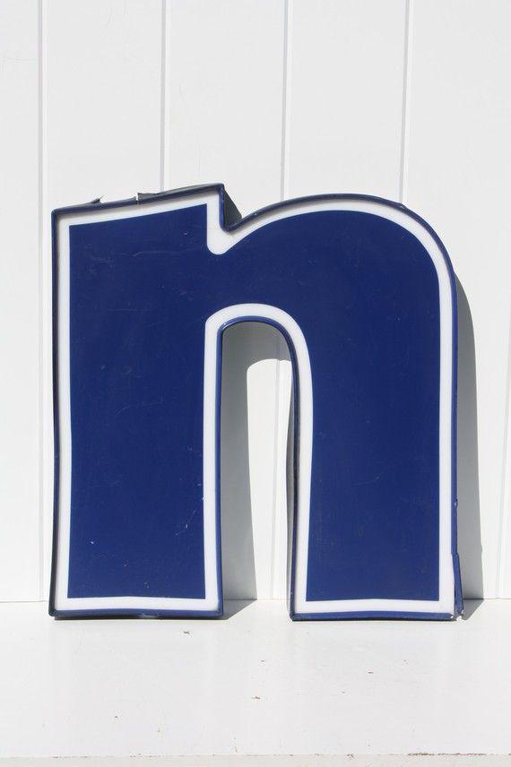 vintage sign letter n .. n for nervick