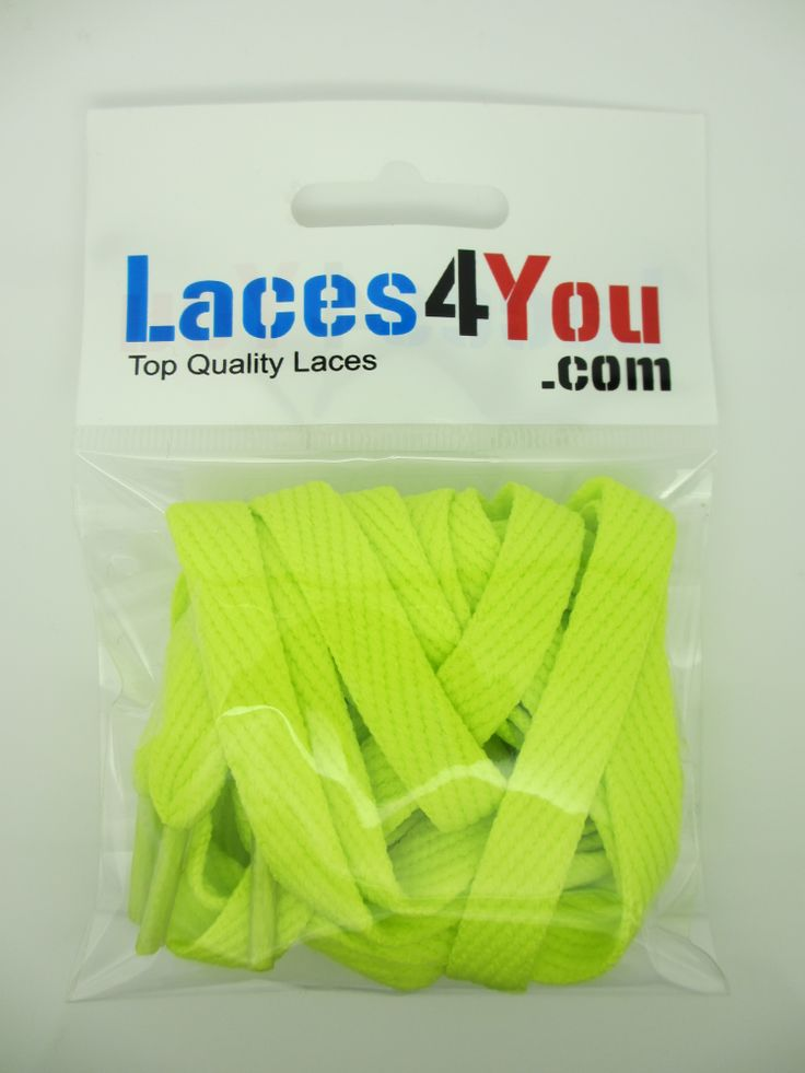 Flat Neon Green 10mm Laces.