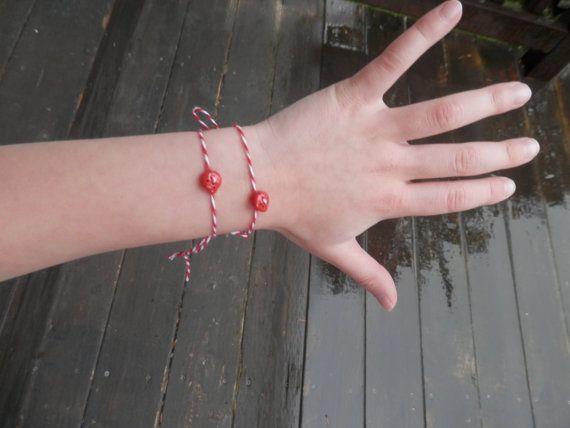 Martenitsa set of 2  bracelets by TheGiftofLovebyLili on Etsy
