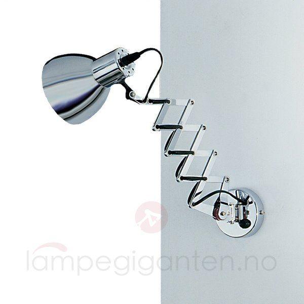 Fleksibel vegglampe ALESSANDRA i krom. 7540314