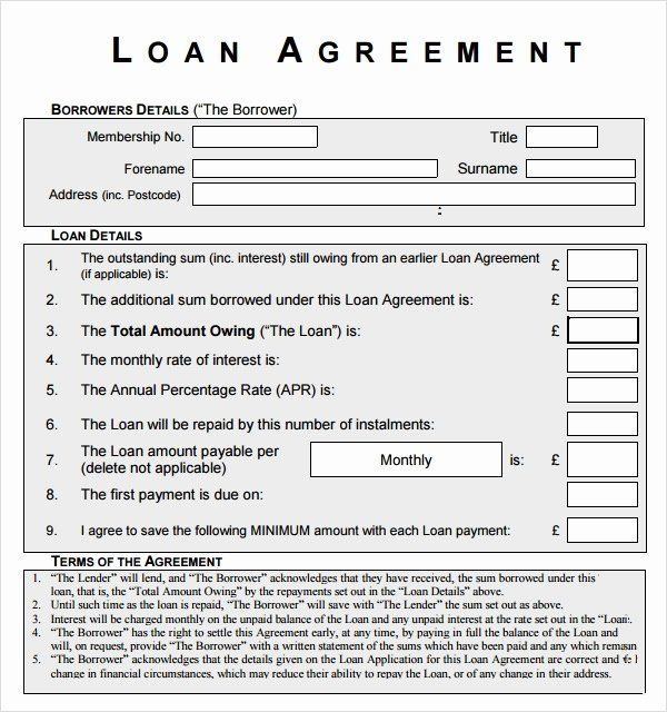 Personal Loan Forms Template Awesome Free 12 Sample Standard Loan Agreement Templates In In 2020 Contract Template Personal Loans Business Letter Template