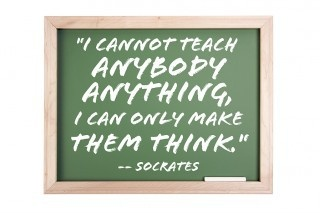 I cannot teach anybody anything, I can only make them think. ~Socrates: Unschooling Quotes, Real Life, Teaching Quotes, Learning Quotes, Motivation Quotes, True Words, Friendship Quotes, Law Schools, Inspiration Quotes