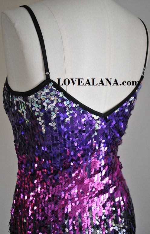 Free Shipping  Sequin Dress  Purple Black Pink by LoveAlanaDesigns, $56.00