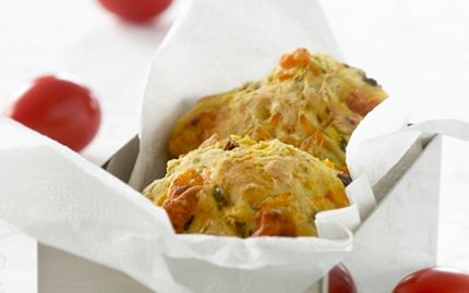 Madpakkeboller med squash, gulerødder og ost