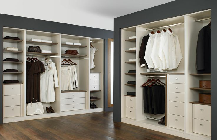 Luxurious walk in wardrobe