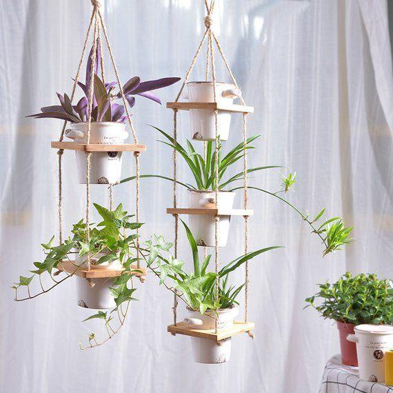 Simple Hanging Planter Hanging Plant Holder Macrame Plant Hanger