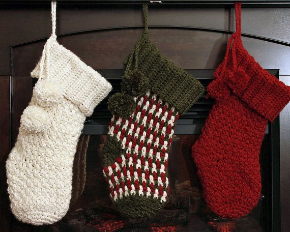 CROCHET CHRISTMAS STOCKING Pattern Brighton by PrettyDarnAdorable