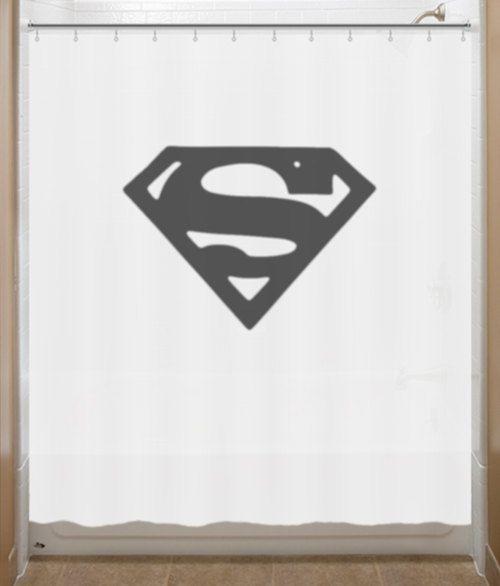 Superman Bathroom Decor: Superman Shower Curtain Chest S Logo Bathroom Decor Bath