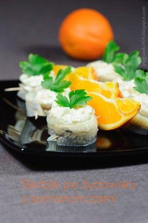 Śledzie po żydowsku z pomarańczami - przepisy.net