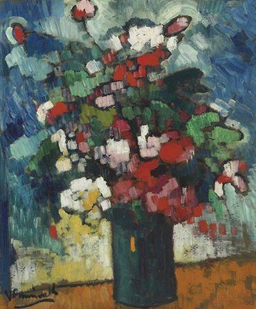 Maurice de Vlaminck (French, 1876-1958) - Bunch of Flowers, 1905-1906