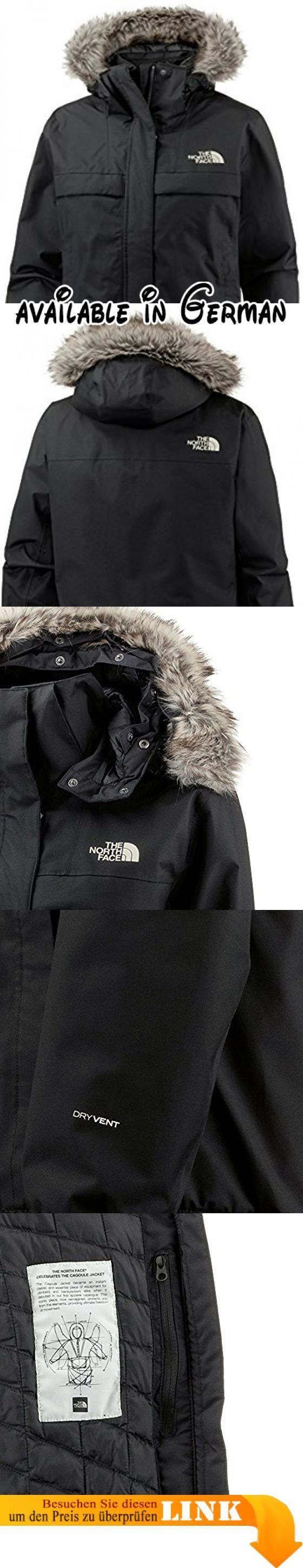 The North Face Cagoule Thermoball Bomber Kapuzenjacke Damen schwarz, S. Wasserdichte Imprägnierung. Wärmeisolierung durch synthetische Daune. Abnehmbare Kapuze mit Kunstpelzbesatz. Reißverschlusstaschen für Stauraum. Vielseitige Kombinationsmöglichkeiten #Sports #SPORTING_GOODS