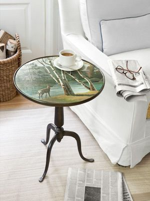 Repurpose old paint-by-number paintings!: Pretty Tabletop, Weekend Projects, Crafts Ideas, Decor Ideas, Side Tables, Numbers Tables, Country Living, Paintings By Numbers, Crafts Homedecor