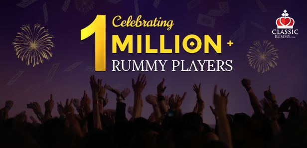 Reaching yet another milestone, India's favorite rummy site, Classic Rummy has over a million plus player base!   #rummy #classicrummy #rummyonline #cardgames #Indianrummy