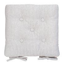 Grey Ticking Stripe Seat Pad