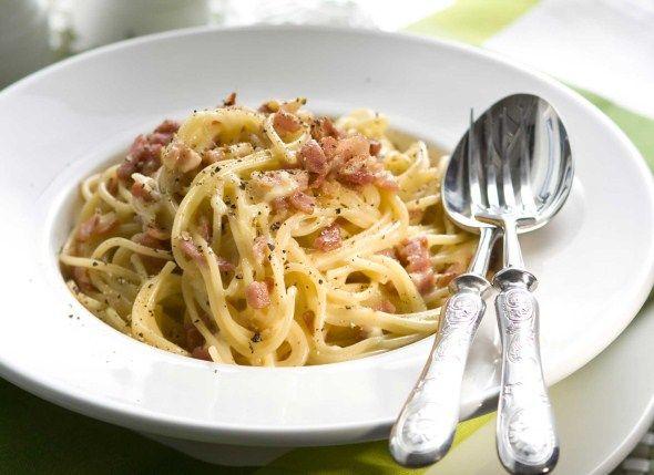 Pasta carbonara eli miilunpolttajan spagetti, resepti – Ruoka.fi