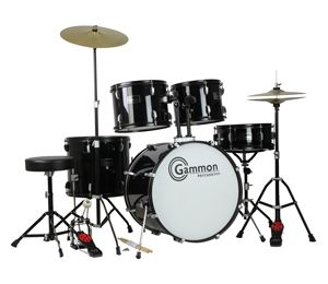 This Junior drum set rocks! Low price, high quality >>> at >>> http://kidsdrumset.com/drum-set/gammon-battle-series-full-size-5-piece-beginner-drum-set/ Gammon Battle Series Full Size 5 Piece Beginner Drum Set