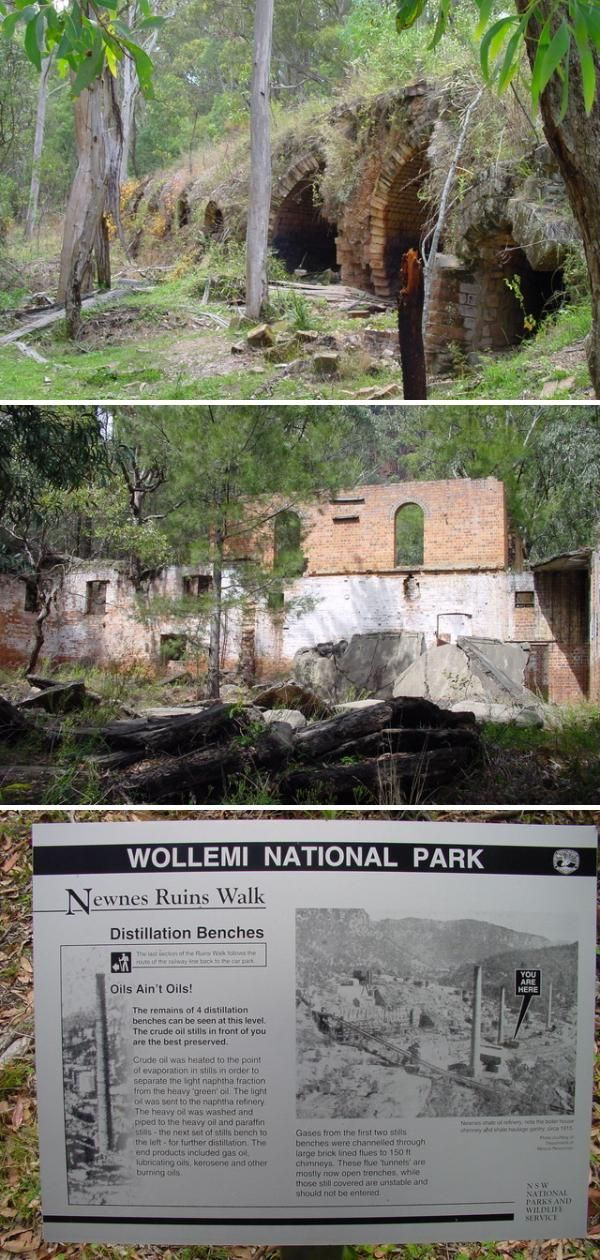 Newnes is an abandoned oil shale mining settlement built by the Commonwealth Oil Corporation during the late nineteenth century.  Photos by James Lamb via Urban Ghosts.