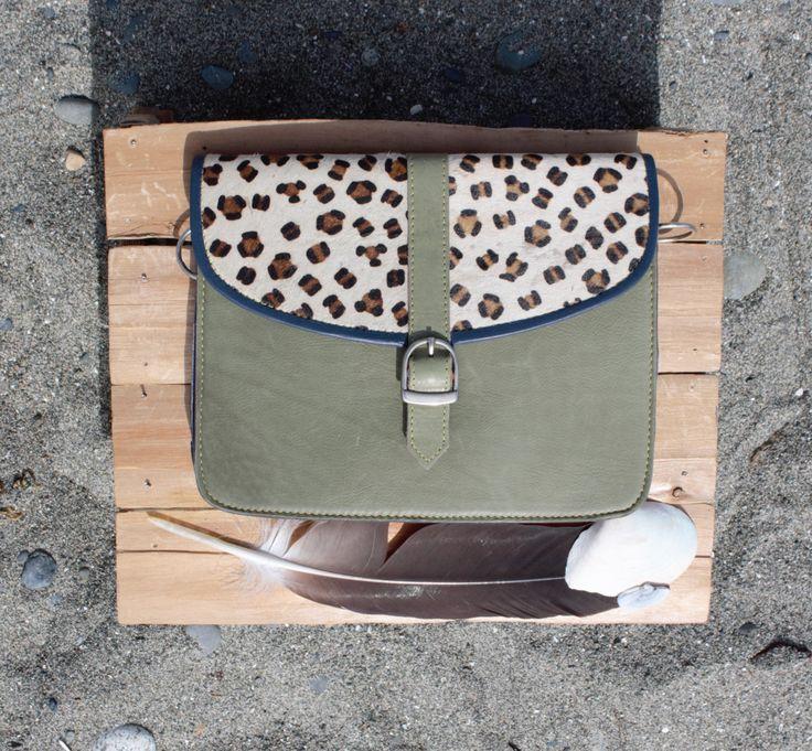 Ladies leather and fur handbag clutch cross body shoulder bag by ShivaShack on…