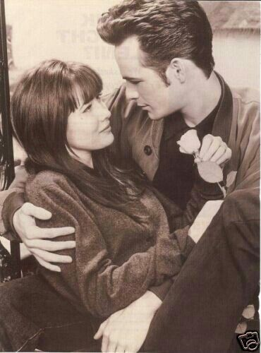 Shannen Doherty and Luke Perry played Brenda Walsh and Dylan McKay in Beverly Hills 90210