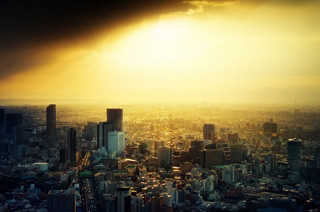 """Till the end of the world"" Sunset in Tokyo, Japan by inhiu (flickr)"