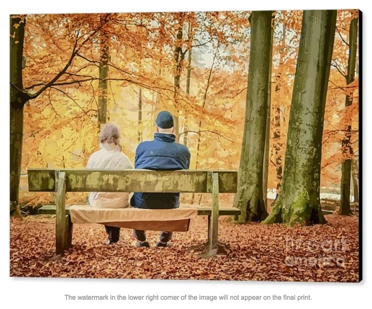 An autumnal couple reflect under the autumnal trees. What are they looking at? What are they thinking? I bet one of things they are talking bout is how short life is! I love the towel on the bench to keep their bottoms dry.