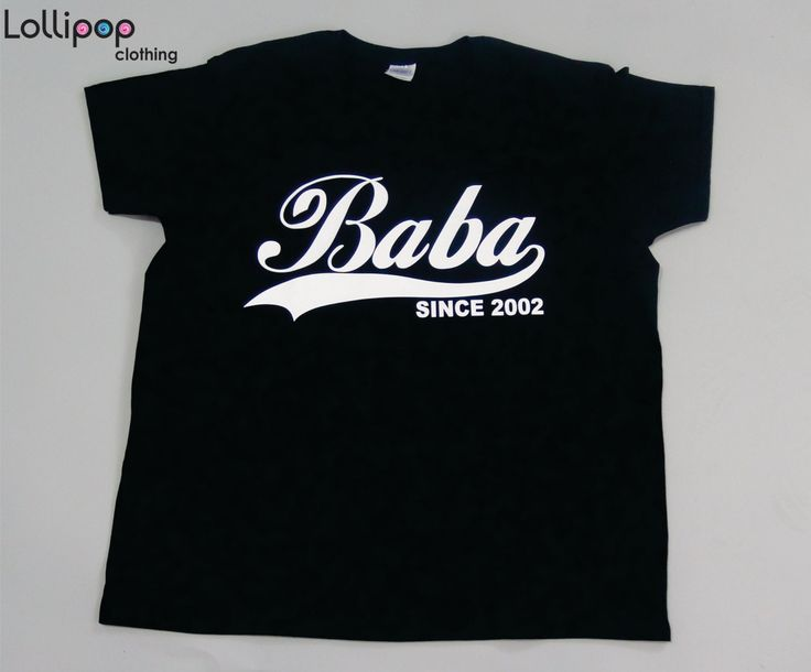 Baba Since . Any year. Women Tshirt. Gift for Grandmother. New baby gift. womens clothing. funny tshirt. plus sizes. for grandma by Lollipopclothing on Etsy