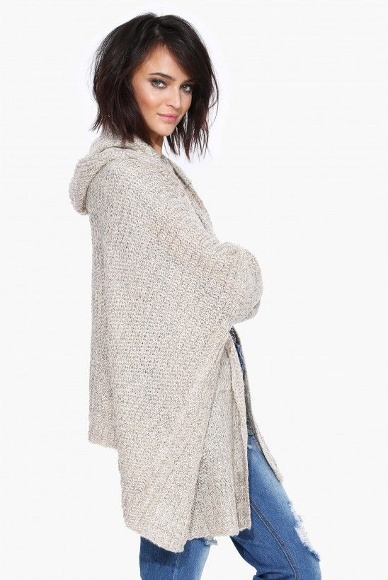 Camile Hooded Cardigan in Cream | Necessary Clothing