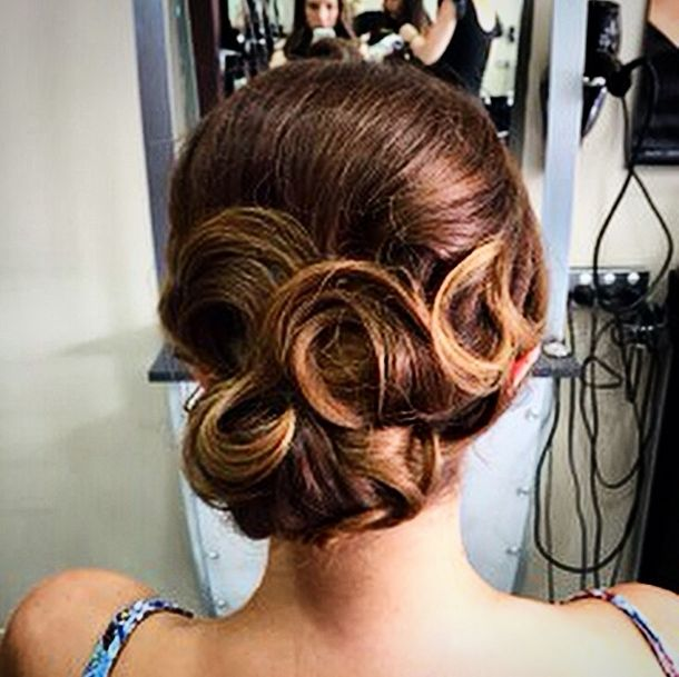 Our Queen of the #Updo Sarah has been at it again