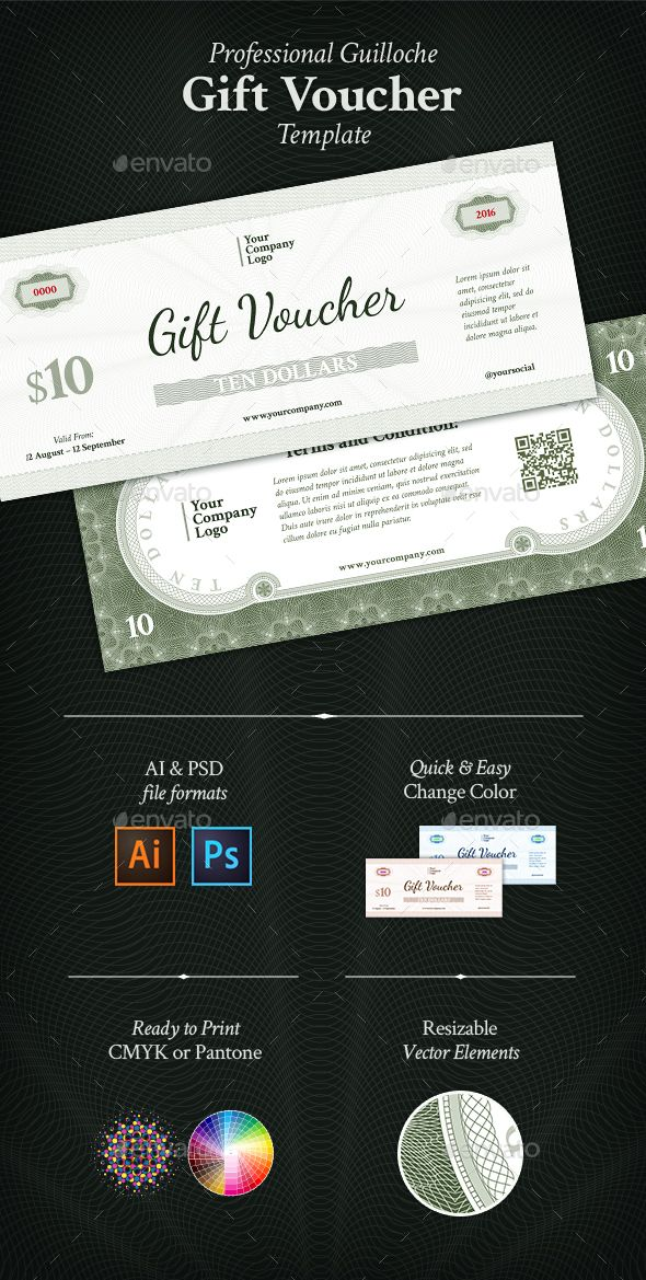 25 best gift voucher design templates images on pinterest design gift voucher template psd ai design download httpgraphicriver yelopaper Images