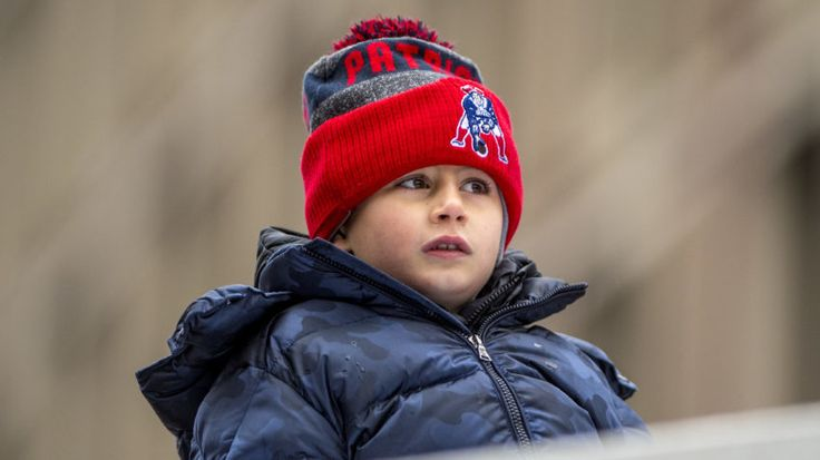 Benjamin Brady, son of Tom Brady, celebrates during the New England Patriots' Super Bowl LI victory parade.   -   Billie Weiss /Getty Images