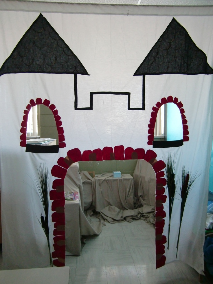 Créer un château à partir d'un drap.