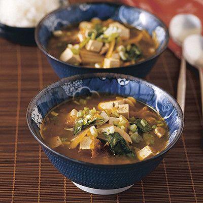 Så enkelt och så gott med en värmande soppa med fläskkarré och spenat.