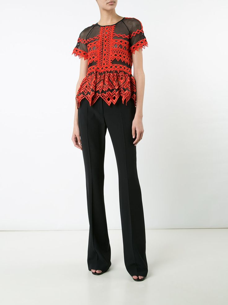 Jonathan Simkhai прозрачная блузка с оборками