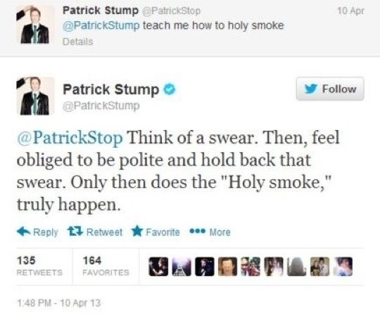 Fall Out Boy tweets | tweets fob fall out boy Patrick Stump. THIS MAN