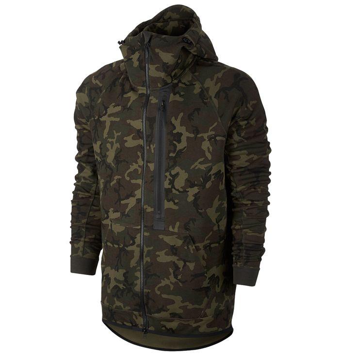 Nike Tech Fleece Camo Hoody Kapüşonlu Erkek Sweatshirt #678950-355 - Barcin.com