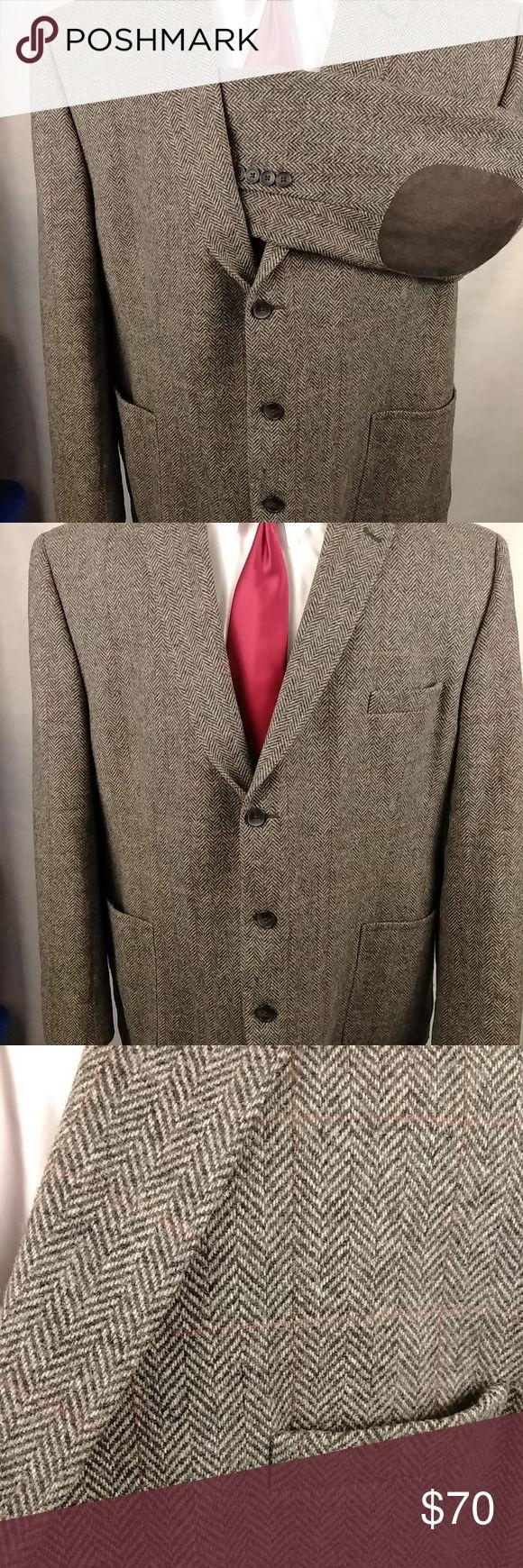 Joseph Abboud Tweed Sport Coat Elbow Patches · Condition