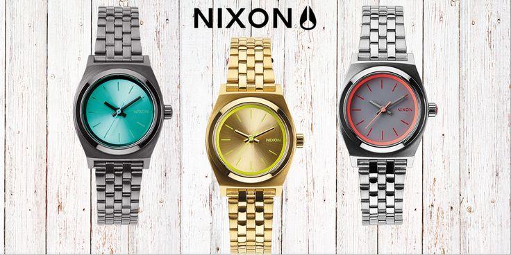 Small Time Teller o modelo da Nixon com 26mm de diâmetro de mostrador, disponível em diversas cores e a um preço muito acessível. Um acessório fantástico para os looks de verão.