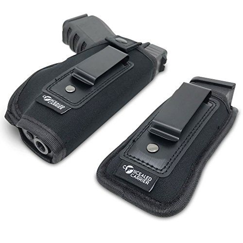 CONCEALED CARRIER (TM) Universal IWB Holster For Concealed Carry | Inside The Waistband | Fits all firearms S&W M&P Shield 9/40 1911 Taurus PT111 G2 Sig Sauer Glock 19 17 27 43 (Right-Handed) - ✔ THE QUALITY The CONCEALED CARRIERTM Universal Neoprene Inside The Waist (IWB) Holster is a high-quality surgical grade and breathable neoprene material. Whether using as your main method of concealed carry or as a back-up concealed carry firearm, you can count on the quick draw capabilit...