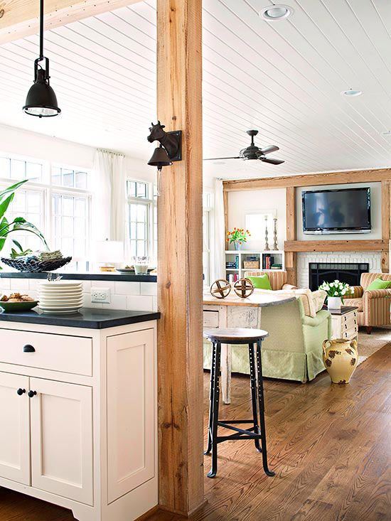 When rooms open to one another, avoid choosing radically different colors, or the space will look choppy and small: http://www.bhg.com/decorating/color/colors/best-color/?socsrc=bhgpin050714fromroomtoroom&page=18
