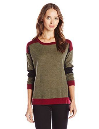 Design History Women's Merino Wool Color-Block Sweater from $47.99 by Amazon BESTSELLERS