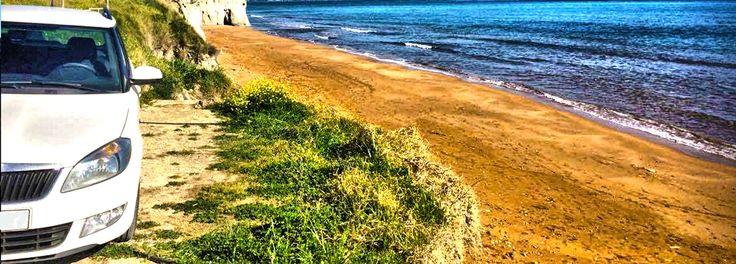 Skoda Fabia Station pozing at Xii beach Kefalonia