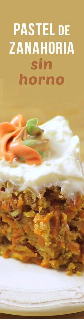 El pastel que más te gusta pero en su versión sin horno. Prepáralo con el panqué del día anterior y dale todo el sabor de un verdadero pastel de Zanahoria, ¿Así o más rico?