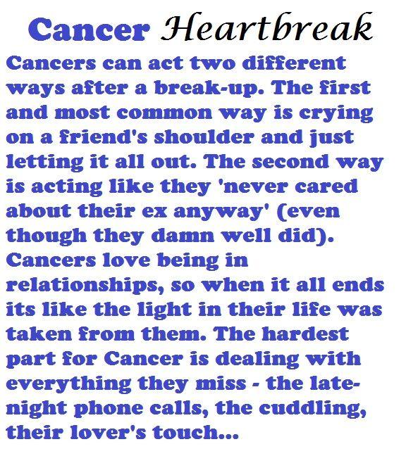 when a cancer man is hurt