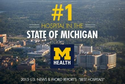 U.S. News and World Report ranked #UMHS as the number one hospital in the state of Michigan. #GoBlue