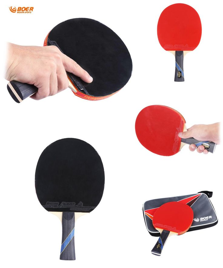 [Visit to Buy] Table Tennis Rackets High Quality Pimples-in Rubber Bat Heavy Tip Light Handle For Fast Attack Type Player Table Tennis Rackets #Advertisement
